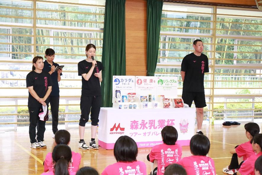 【森永乳業杯ツアーオブバレーボール2019】姫路大会 7月28日@姫路市立置塩中学校