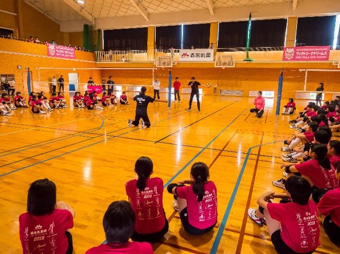 【森永乳業杯ツアーオブバレーボール2019】岡山大会 11月9日@岡山市立岡山中央中学校