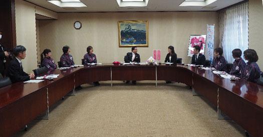 20200319清元姫路市長に、初のV1リーグをご報告