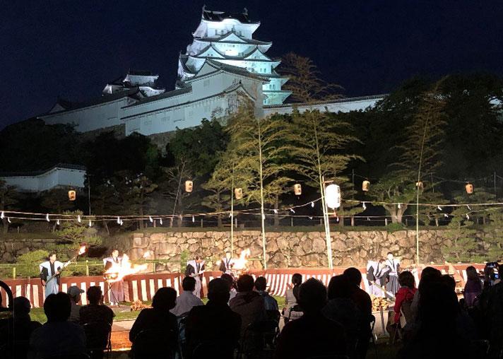 〔イベント報告〕5月21日「第50回記念姫路城薪能」に 球団オーナー眞鍋政義が参加しました