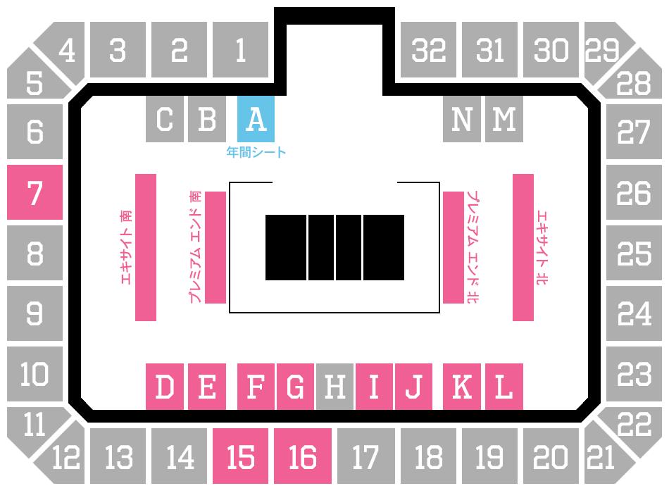 2021-2022シーズン 50%収容座席配置図